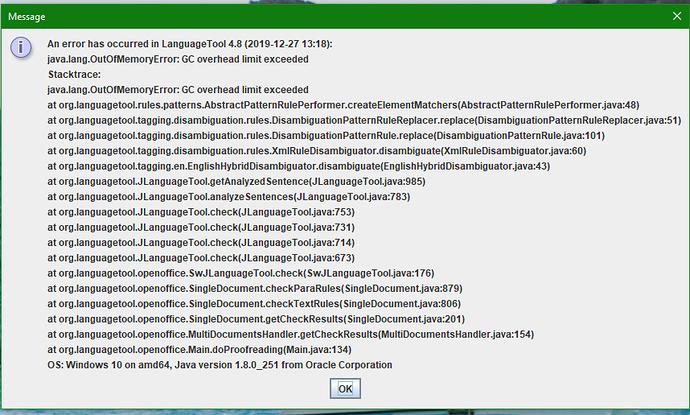 LT4-8 error report