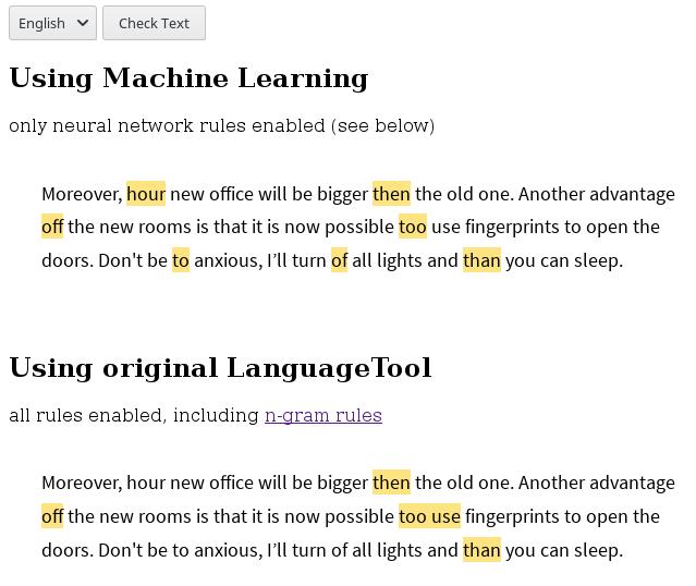 Neural Network Rules - Development - LanguageTool Forum