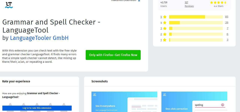 Installing LanguageTool as an offline add-on to Firefox